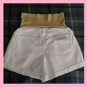 White Maternity Boyfriend Shorts